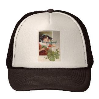 Lady with Shamrocks Mesh Hats