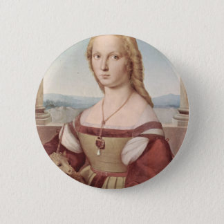 Lady with the Unicorn Raphael Santi 6 Cm Round Badge