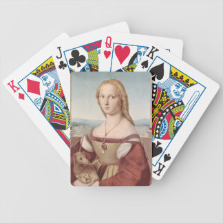 Lady with the Unicorn Raphael Santi Bicycle Playing Cards