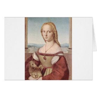 Lady with the Unicorn Raphael Santi Card