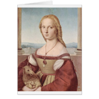 Lady with the Unicorn Raphael Santi Card