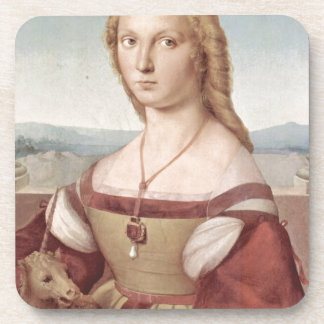 Lady with the Unicorn Raphael Santi Coaster