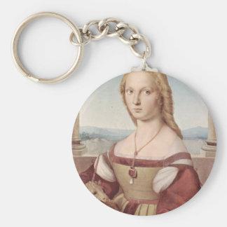 Lady with the Unicorn Raphael Santi Key Ring