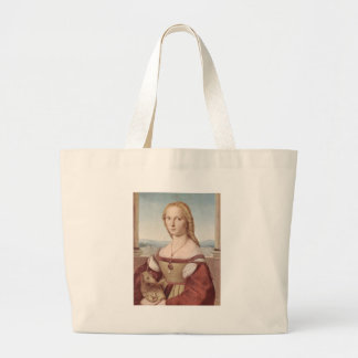 Lady with the Unicorn Raphael Santi Large Tote Bag