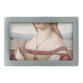 Lady with the Unicorn Raphael Santi Rectangular Belt Buckles