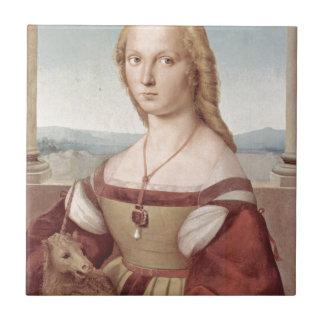 Lady with the Unicorn Raphael Santi Tile
