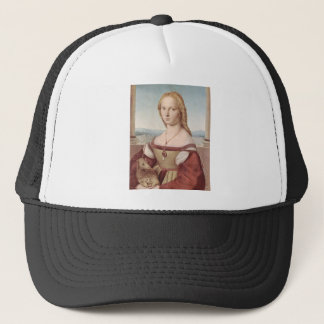 Lady with the Unicorn Raphael Santi Trucker Hat