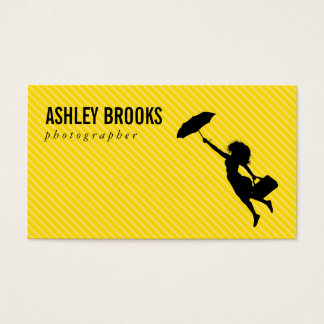 Lady with Umbrella Business Card