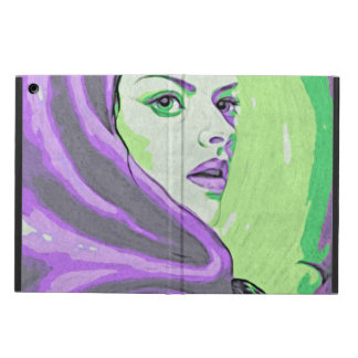 lady woodblock purple cover for iPad air