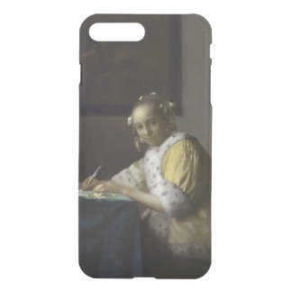 Lady Writing a Letter by Johannes Vermeer iPhone 7 Plus Case