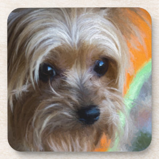 Lady Yorkshire Terrier Beverage Coaster