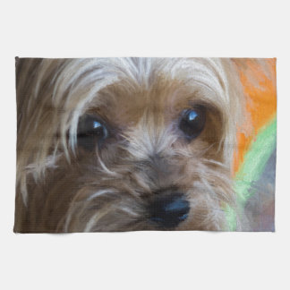 Lady Yorkshire Terrier Tea Towel