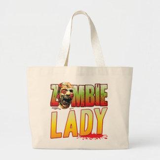 Lady Zombie Head Bags
