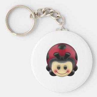 ladybird basic round button key ring