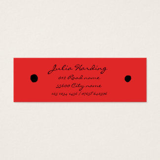 Ladybird black dots mini business card