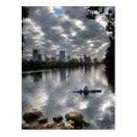 Ladybird Lake Kayak - Skyline - Austin Texas Postcard