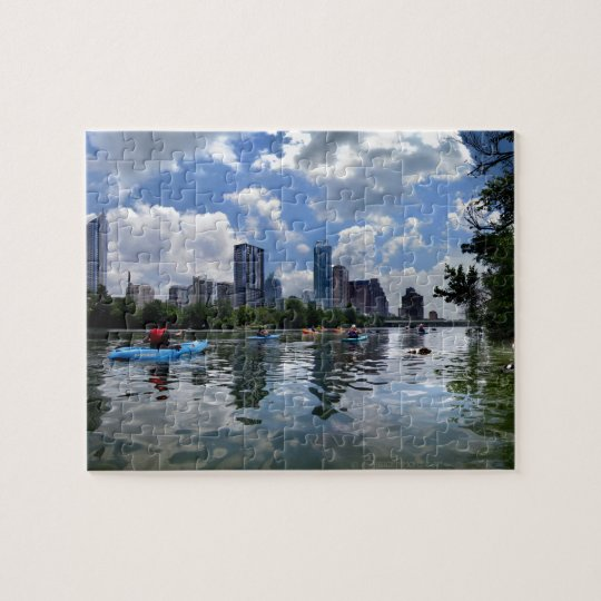 Ladybird Lake Kayaks and Dog Park - Austin, Texas Jigsaw Puzzle