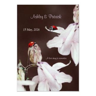 "Ladybird Love  Wedding Invitation 5"" X 7"" Invitation Card"