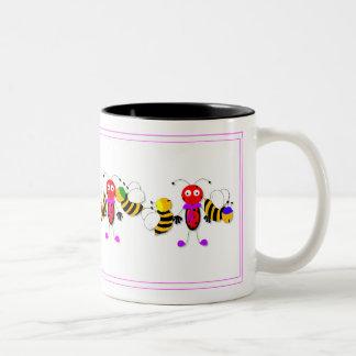Ladybirds Ladybugs and Bees Cute Mug Design