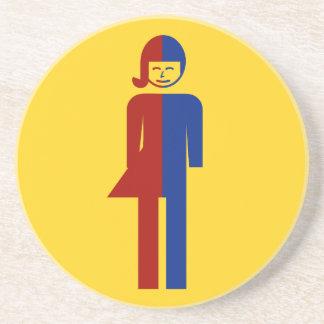 Ladyboy / Tomboy Toilet ⚠ Thai Sign ⚠ Sandstone Coaster