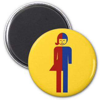 Ladyboy / Tomboy Toilet ⚠ Thai Sign ⚠ 6 Cm Round Magnet