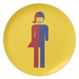 Ladyboy / Tomboy Toilet ⚠ Thai Sign ⚠ Party Plate
