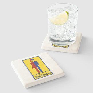 Ladyboy / Tomboy Toilet ⚠ Thai Sign ⚠ Stone Beverage Coaster