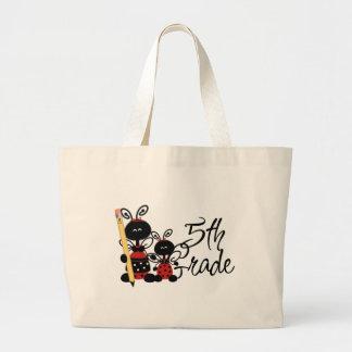 Ladybug 5th Grade Tshirts and Gifts Large Tote Bag