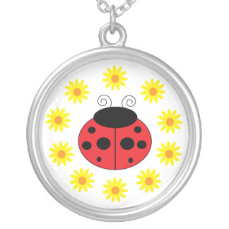 Ladybug and Daisies Necklace