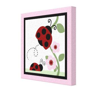 Ladybug and Flowers 1 Canvas Print