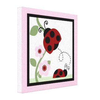 Ladybug and Flowers 4 Canvas Print