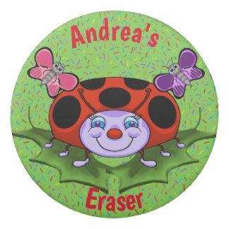 Ladybug and Flowers Eraser