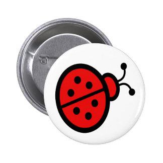 Ladybug Art 6 Cm Round Badge
