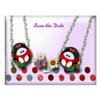 Ladybug Babies Postcard