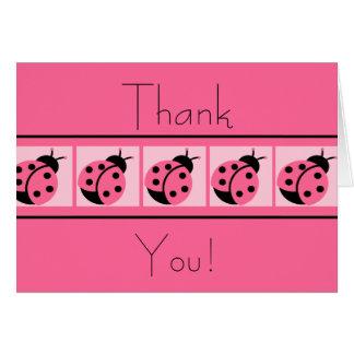 Ladybug Banded Thankyou Cards