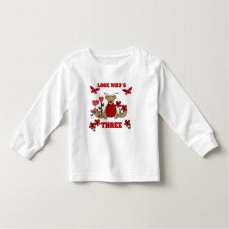 Ladybug Bear 3rd Birthday Tshirts