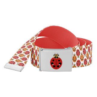 Ladybug Beetles in Orange and Red Belt