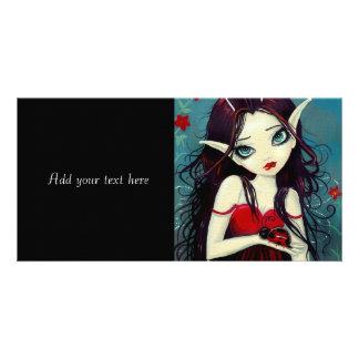 Ladybug Big-Eye Fairy Art Personalized Photo Card