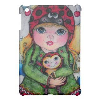 Ladybug Big Eye Girl iPad Mini Cover