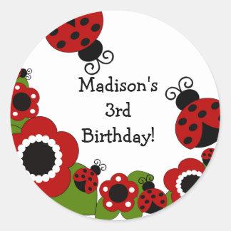 Ladybug Birthday Sticker