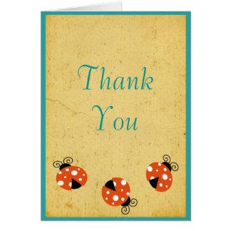 Ladybug Birthday Thank You Greeting Cards