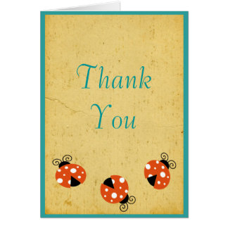 Ladybug Birthday Thank You Greeting Card
