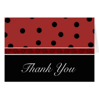 Ladybug Blank Thank You Note Card