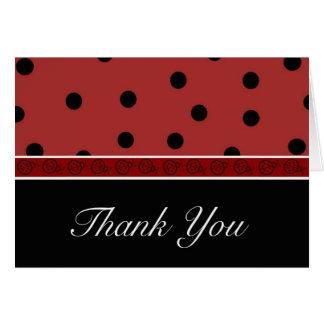 Ladybug Blank Thank You Note Card