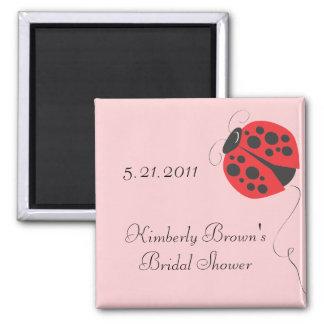 Ladybug bridal shower date magnet