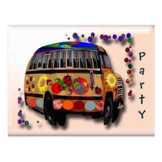 Ladybug Bus Postcard
