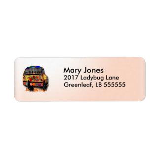 Ladybug Bus Return Address Label