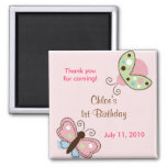 Ladybug Butterfly Birthday Favour Magnets