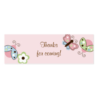 Ladybug Butterfly Garden Birthday Favour Gift Tags Pack Of Skinny Business Cards
