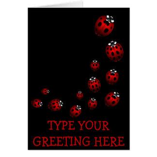 Ladybug Card Custom Ladybug Art Card - Custom